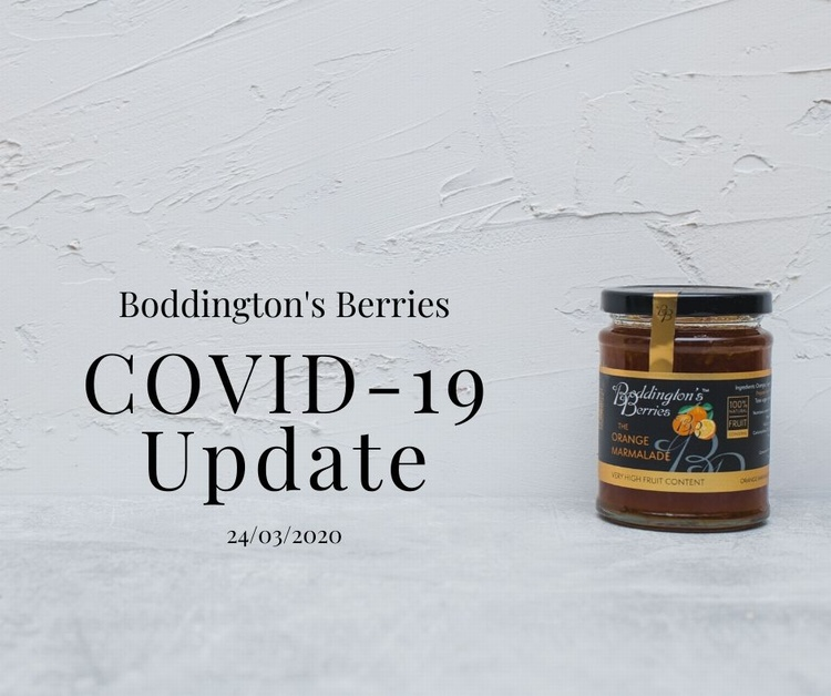 Boddington's Berries latest update on COVID-19